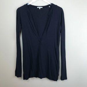 ▪️VINCE▪️ Basic Modal V neck longsleeve blouse